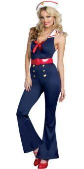 Bon Voyage Sailor Costume for Women - Party City