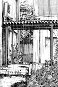 Architectural Urban Sketches and Cityscape Drawings. See more art and information about Kiyohiko Azuma, Press the Image.
