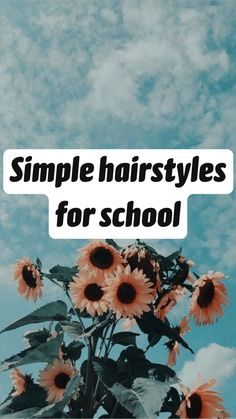 Cute Hairstyles For School, Cute Simple Hairstyles, Easy Hairstyles For Long Hair, Pretty Hairstyles, Hairstyle Ideas, Braided Hairstyles, Natural Hair Styles, Short Hair Styles, Aesthetic Hair