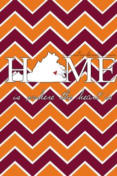 Love it! The heart should be over Blacksburg and not Richmond though