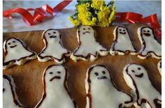 Recipe: Biscuits «Little Ghost» — the night before all Saints ' Day. With Halloween!