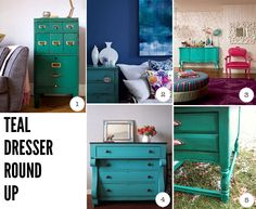 Should I finally paint my dresser? Teal? Goes with my peacock theme...