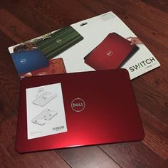 New Dell Red Interchangeable Laptop Cover SWITCH New Dell Red Interchangeable Laptop Cover SWITCH by design studio. Dell Inspiron 14R. New never used. Box is open. Accessories Laptop Cases