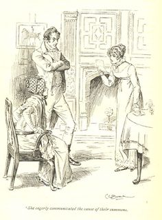 She eargerly communicated the cause of their summons - Pride & Prejudice, 1895