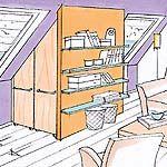 Dachschräge: Einrichten - Einrichtung - DAS HAUS