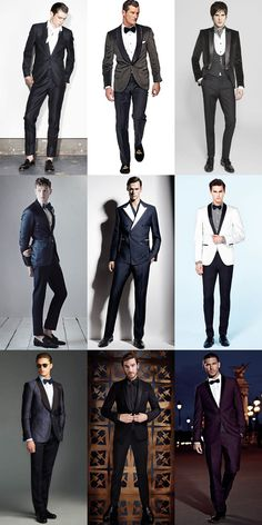 Men's Tuxedo/Dinner Suits - Modern/Unconventional Formal/Black Tie Outfit Inspiration Lookbook