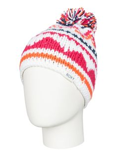 roxy, Girl's 7-14 Djuni Beanie, Bright White (wbb0)