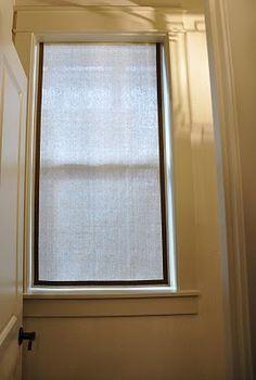 Small window treatments on pinterest corner window treatments bathroom window coverings and for Window treatments for small bathroom windows