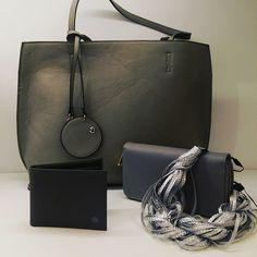 Stripe #Necklace_Silver 3D #leather da Colazione da_Milano