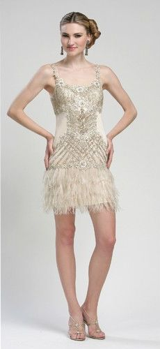 Beaded feather cocktail dress by Sue Wong. Very Singin In The Rain! Sue Wong, Flapper Dresses, Feather Print, Gatsby, Formal Dresses, Wedding Dresses, Daydream, Cocktail, Rain