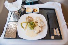 Etihad Business Class Hauptgericht #businessclass #airbus #boeing #economyclass #firstclass #etihad #travel #review #food