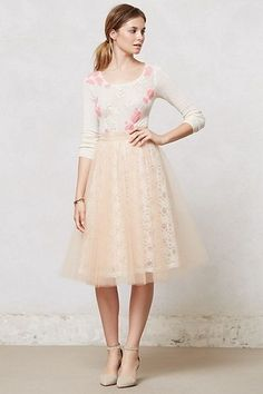 ANTHROPOLOGIE AURELIE TULLE SKIRT ALEXANDRA GRECCO SZ 6 SOLD OUT