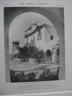 Foreign Arts Building: Panama-California Exposition, San Diego CA, 1915. Frank P. Allen Jr.