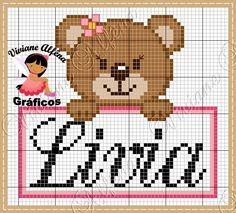 Olá!! Venho compartilhar um gráfico bem fofinho que eu criei hoje!!   E aí o que vocês acham??                                             ... Pixel Crochet Blanket, Hello Kitty, Baby Cross Stitch Patterns, C2c, Animals, Link, Cross Stitch Bird, Cross Stitch Love, Cross Stitch Samplers