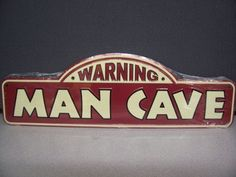 #DC85029 Embossed Metal Warning Man Cave Street Sign Tag ... http://amzn.to/2lxkO22