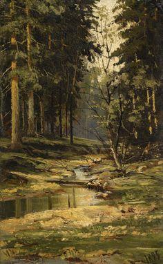 We Love Paintings — lionofchaeronea:   The Forest Brook, Ivan...