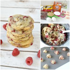 Raspberry Chocolate Chip Cookies are absolutely amazing! Adding fresh raspberries to a delicious classic cookie recipe makes such a delicious difference! Classic Chocolate Chip Cookies Recipe, Chip Cookie Recipe, Cookie Recipes, Snack Recipes, Dessert Recipes, Snacks, Bar Recipes, Recipies, Raspberry Chocolate