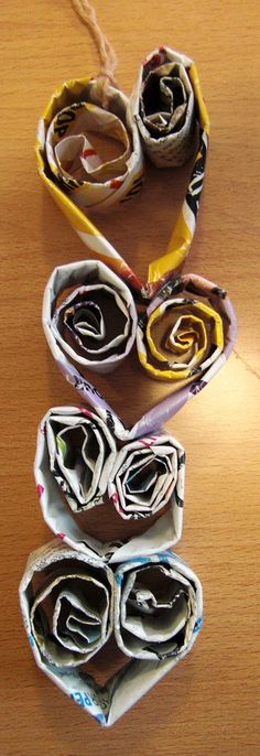 https://flic.kr/p/92qzJ5 | Christmas tree Spirals | This year my Christmas theme is recycling.  Funding is poor!  the children have loved making these paper heart spirals.