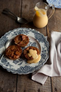 caramel bread puddings with white chocolate and marmalade | Drizzle and Dip