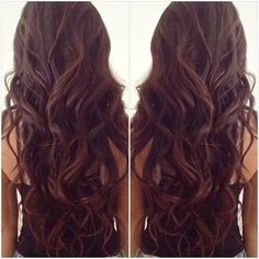 Luxy Hair Extensions - fan photo courtesy of @esterbrii - Chocolate Brown and beautiful loose curls!   Check out this shade here: http://www.luxyhair.com/collections/all-hair-extensions/products/chocolate-brown