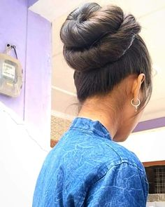Bun Hairstyles For Long Hair, Braids For Long Hair, Bun Styles, Long Hair Styles, Indian Long Hair Braid, Beautiful Buns, Knot Bun, Fun Buns, Brown Hair Balayage