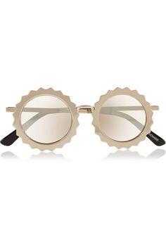 Seeing Stars round-frame metal mirrored sunglasses