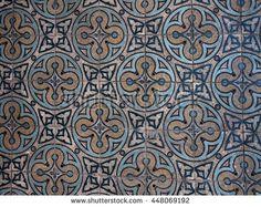 Detail of Ukranian floor  tiles - stock photo