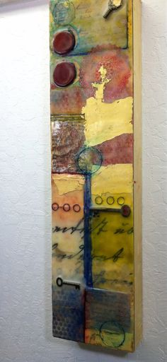 encaustic mixed media by Raven Voss on etsy