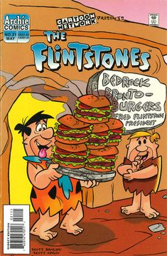 Cover for The Flintstones (Archie, 1995 series) Archie Cartoon, Today Cartoon, Morning Cartoon, Archie Comics, Children's Comics, Good Cartoons, Famous Cartoons, Funny Cartoons, Retro Cartoons