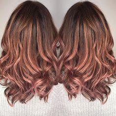 Rose Brown Hair Color