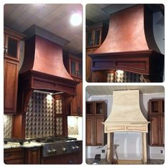 Range Hood created with the help of Modern Masters Copper Metallic Paints | Beautiful project by Bella Tucker