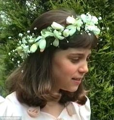 Kate and her sister Pippa wore floral crowns for the occasion...