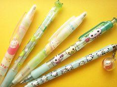 Kawaii San-x Character Stationery Mechanical Pencils Cute … Cool Stationery, Cute Stationary, Kawaii Stationery, Japanese School Supplies, Cute School Supplies, Japanese Drawings, Cute Pens, Kawaii Shop, Girl Swag