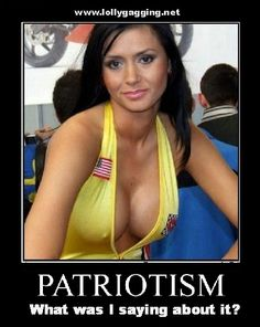 Patriotism - what was I saying about it?