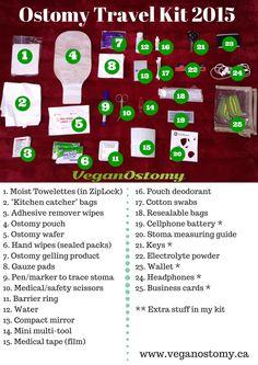 My Ostomy Travel Kit – March 2015 Edition! How To Remove Adhesive, Ulcerative Colitis, Nursing Notes, Crohns, Travel Kits, Ms Gs, Edc Bag, Crohn's Disease, Autoimmune Disease