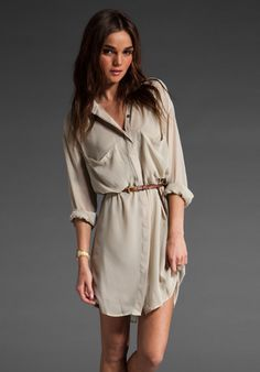 Love this shirt dress!