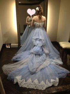 TAKAMI BRIDAL CD試着② ブルー・ロンシェール の画像|petite's wedding note ~33歳ハナヨメの結婚準備ブログ~