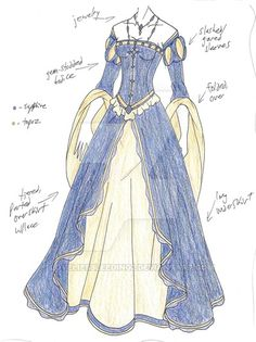 PLEASE NOTE: I do not allow any use of my designs.</i> An updated/changed version of an old design. Skirt folds still majorly screwy, but oh well. Supposed to be for my Italian Renaissance la...