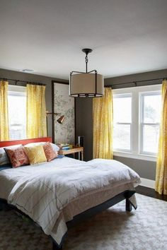 50+ Awesome Grey and Yellow Bedroom Inspirations