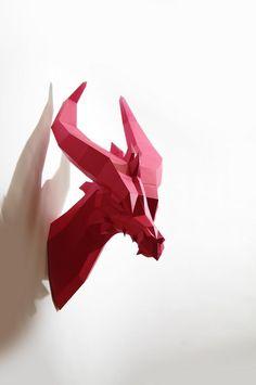 Kleiner Drache - ein Paperwolf Bastelbogen von Paperwolfs Shop auf DaWanda.com