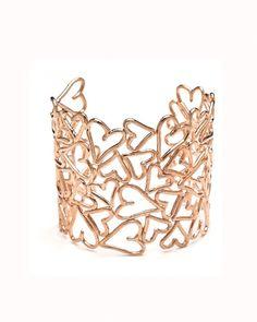 Copper Hearts Cuff Bracelet
