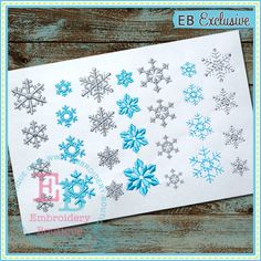 Snowflakes from Embroidery Boutique