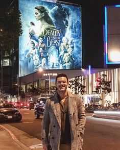 Gratuitous pic standing in front of your own billboard. ✔️#beautyandthebeast #thetravellingwelshman