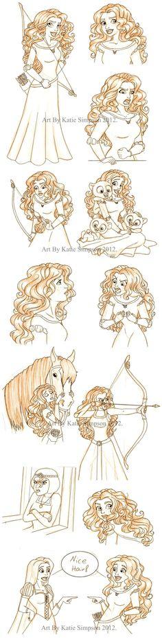 Merida Sketches by Redhead-K.deviantart.com on @deviantART