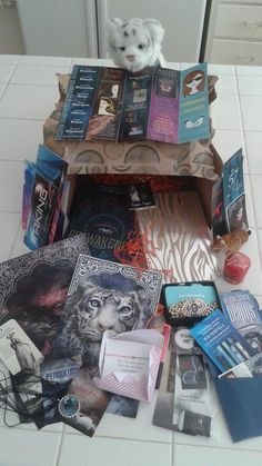 @Cali_for_ya The most awesome prize pack ever!!! Thank you so much @ColleenHouck #reawakened #tigerscurse I love it all!!!