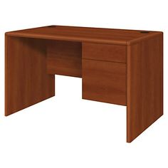 "HON® 10700 Series Laminate Small Office Desk, 29 1/2""H x 48""W x 30""D, Cognac"