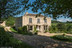 Dream home: Sarah and Adam Howard moved The Old Manor 30 miles from Wiltshire to Glouceste...