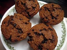 Molasses oatmeal chocolate chip muffins. Delish.