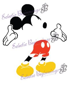 Disney Digital File, DIY Print Iron On-Mickey Mouse Outline Silhouette INSTANT DOWNLOAD