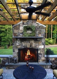 34 Admirable Outdoor Fireplace With Patio Design Ideas - During the Fall season and the cooler months of the year, people start to look for ways to extend the use of there outdoor living area. Most people do. Outdoor Fireplace Patio, Outside Fireplace, Outdoor Fireplace Designs, Diy Fireplace, Outdoor Fireplaces, Fireplace Mirror, Backyard Patio Designs, Pergola Designs, Backyard Landscaping